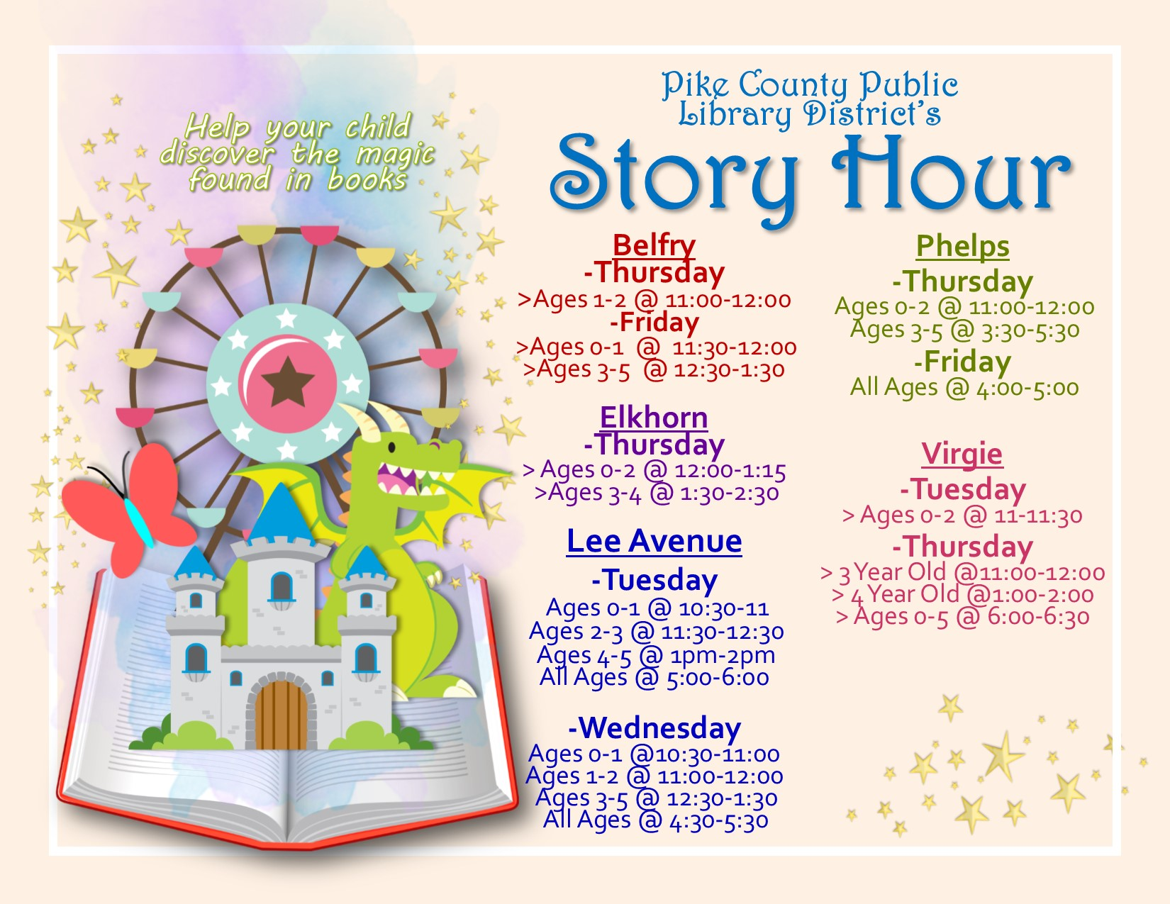 Story Hour Schedule 2017